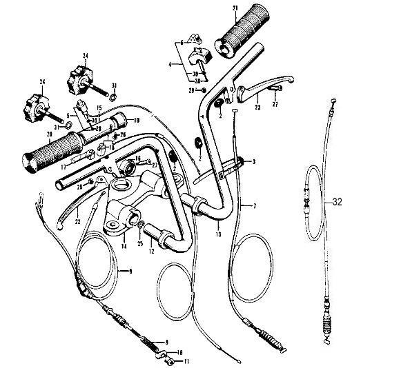 ct70k0 k3 handlebars northeast vintage cycle